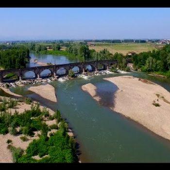 Vercelli riprese aeree drone Fiume Sesia